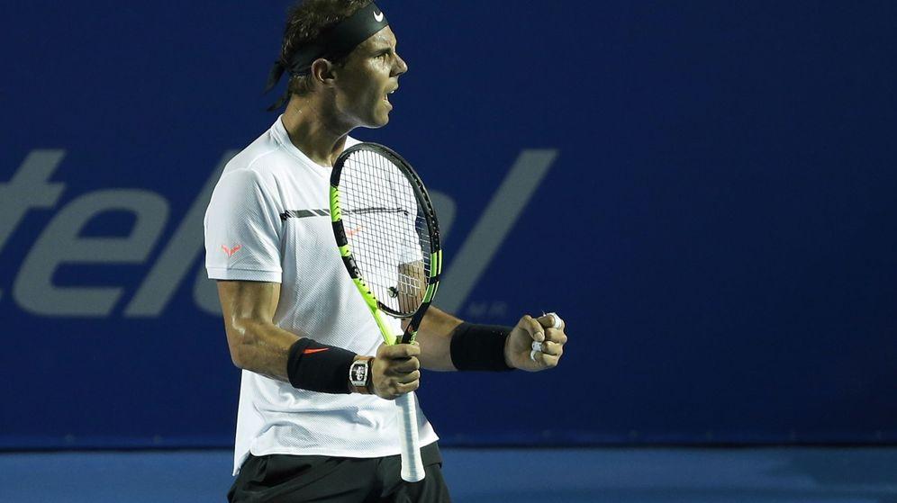 Foto: Rafa Nadal celebra su victoria ante Mischa Zverev en Acapulco (Efe),
