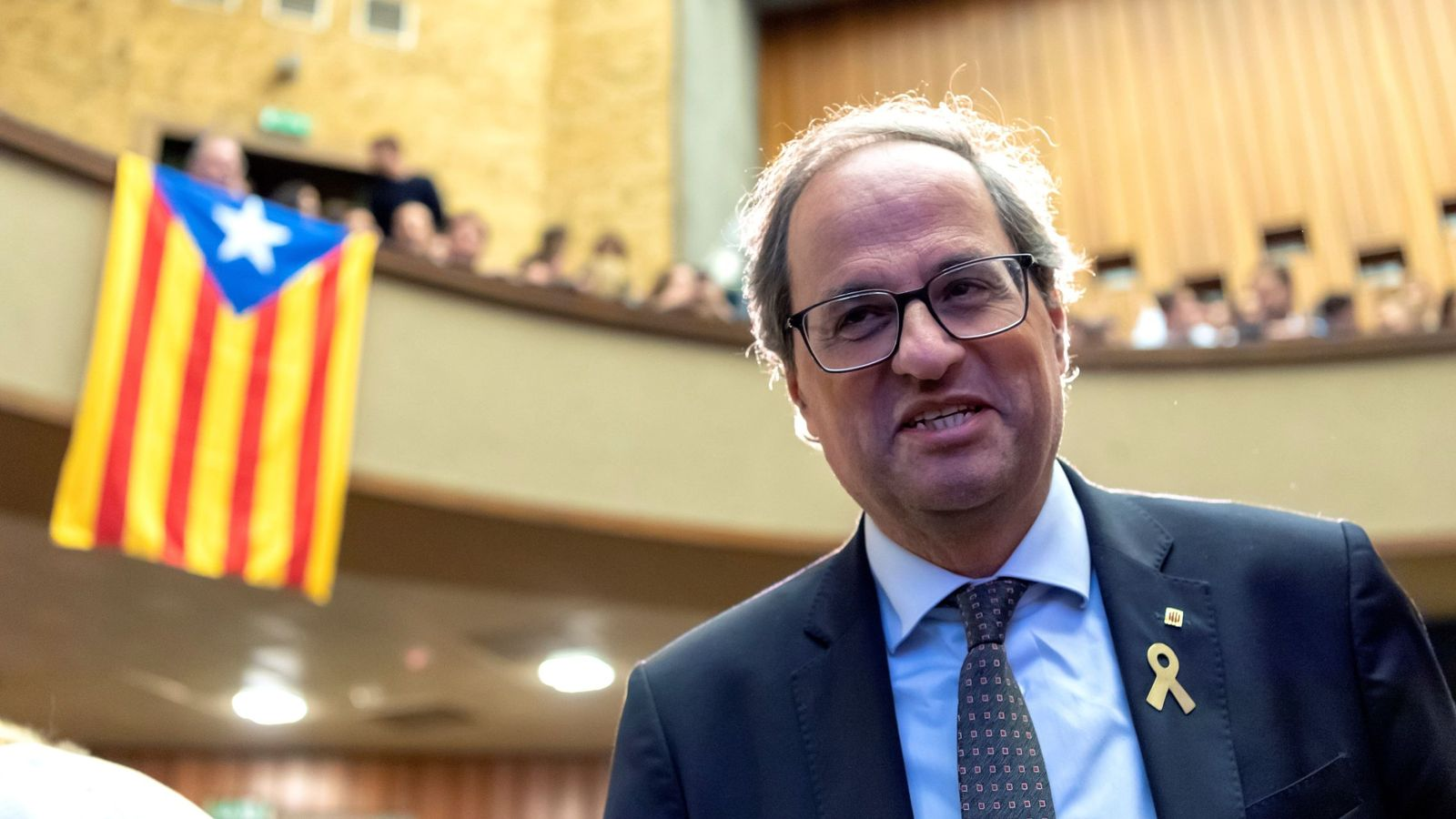 Foto: El presidente de la Generalitat, Quim Torra, en Suza. (EFE)