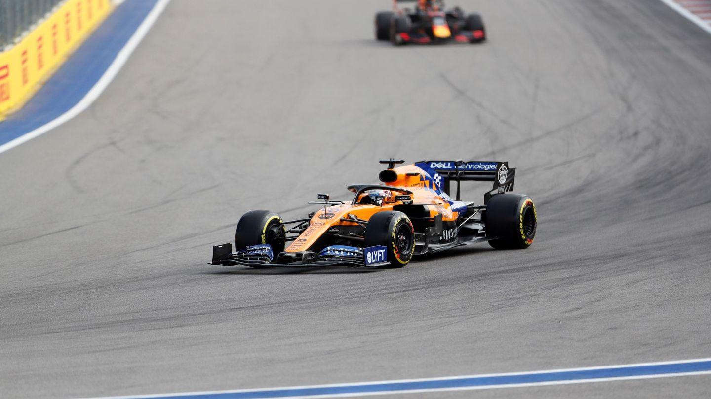Carlos Sainz, con el McLaren actual en Rusia. (EFE)