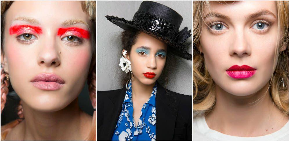 Foto: Labios, párpados y pestañas sucumben a los colores eléctricos.