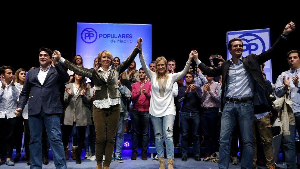 Foto: El alcalde de Alcorcón, David Pérez, a la izquierda, en una foto de archivo junto a Esperanza Aguirre, Cristina Cifuentes y Pablo Casado (EFE)