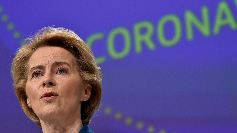 La presidenta de la Comisión Europea, Ursula Von der Leyen, en Bruselas. (Reuters)
