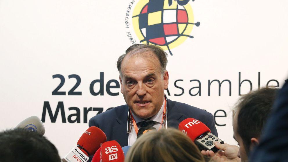 Tebas se reafirma contra un Villar que salió indemne de los procesos del TAD