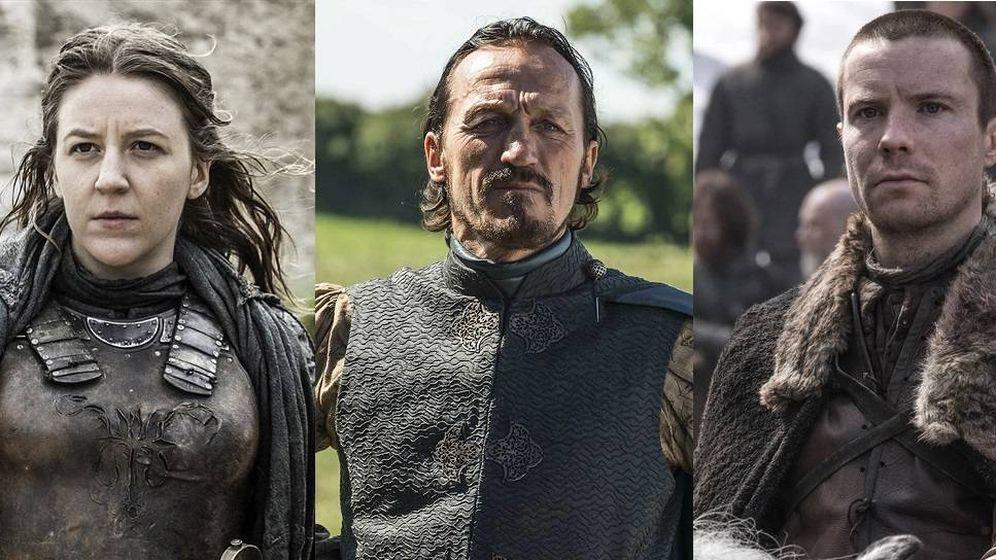 Foto: Yara, Bronn y Gendry Baratheon.