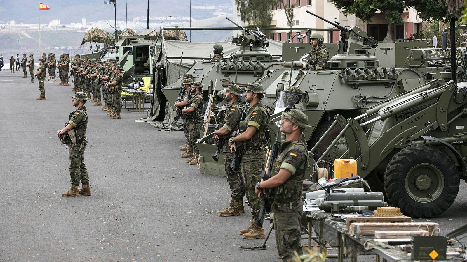 """Foto: Efectivos de la Brigada """"Canarias"""" XVI, en una imagen de archivo. (EFE)"""