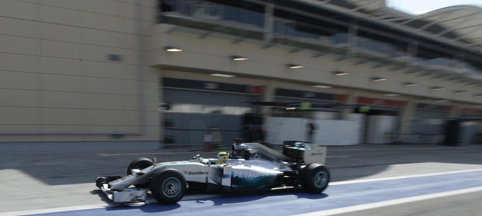 Foto: Rosberg, en un instante del entrenamiento (Reuters).
