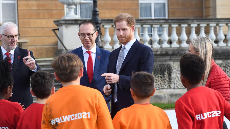 El príncipe Harry, este jueves en Buckingham. (Getty)