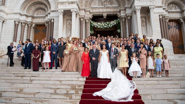Luis Ducruet y Marie Chevallier con su familia. (Palacio de Mónaco)