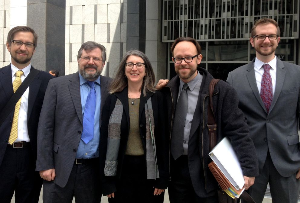 Foto: Mark Rumold, Kurt Opsahl, Cindy Cohn, Matt Zimmerman y Nate Cardozo de Electronics Frontier Foundation