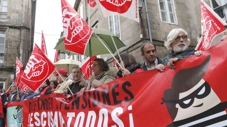 Manifestación en defensa de las pensiones públicas. (EFE)