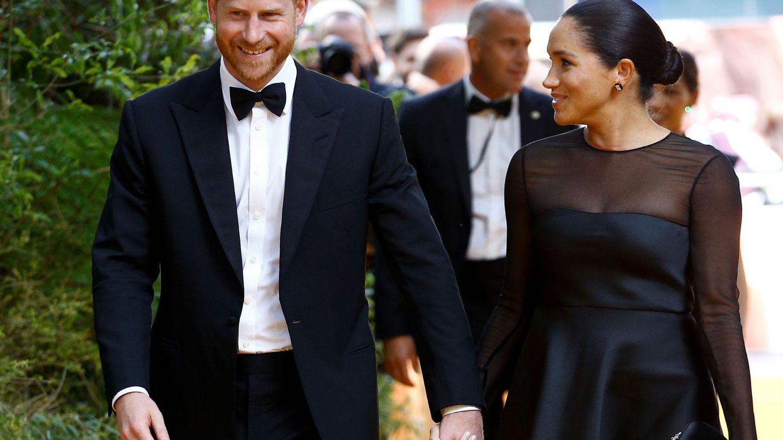 Los duches de Sussex, en el estreno de 'El rey león' en Londres. (Reuters)