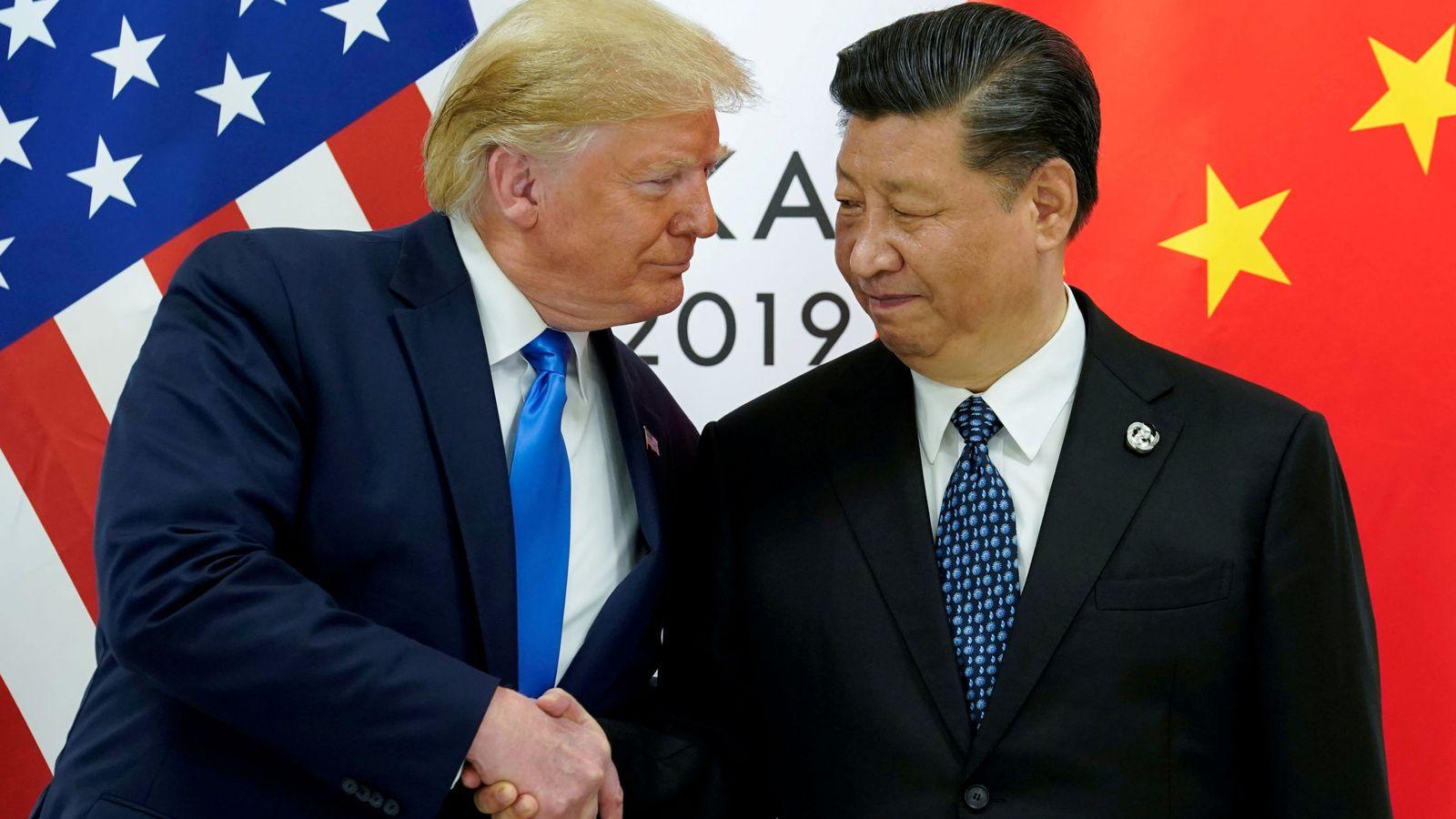 Foto: Donald Trump y Xi Jinping se saludan. (Reuters)