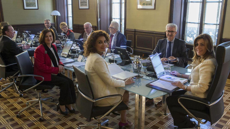 Susana Díaz durante un consejo de Gobierno en Andalucía (EFE)