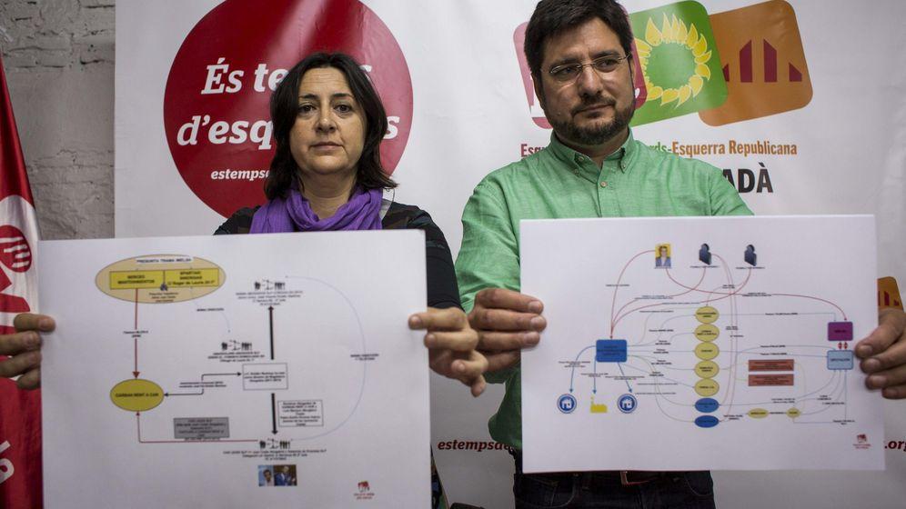 Foto: Rosa Pérez e Ignacio Blanco (EU-IU) denuncian la trama de Rus (Efe)