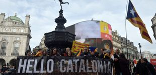 Post de Los independentistas catalanes aprovechan Gibraltar para redoblar su campaña en UK