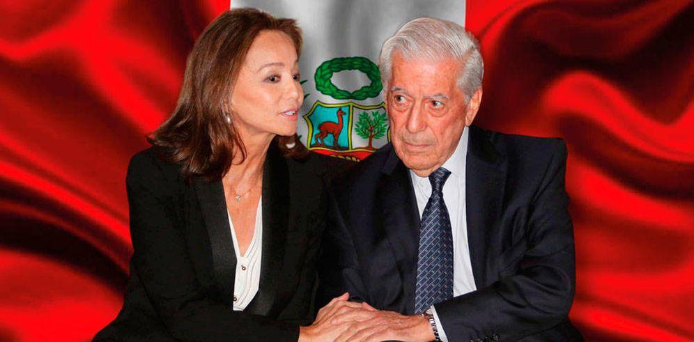 Foto: Isabel Preysler y Vargas Llosa en un fotomontaje de Vanitatis.