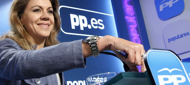 Foto: La secretaria general del PP, María Dolores de Cospedal en rueda de prensa