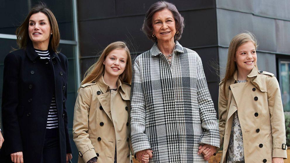 Esto es lo que ha costado (en clave fashion) la escena del perdón de Letizia y Sofía