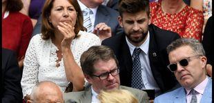 Post de Piqué y la madre de Kate Middleton, juntos en las gradas de Wimbledon