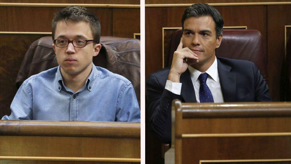 Foto: Íñigo Errejón y Pedro Sánchez.