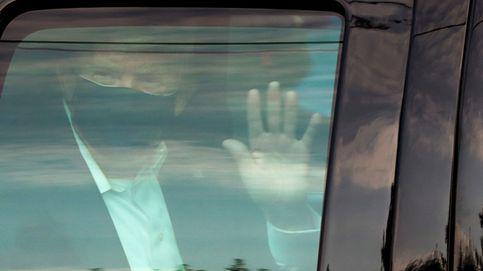 Trump sale del hospital para saludar a sus simpatizantes desde el coche