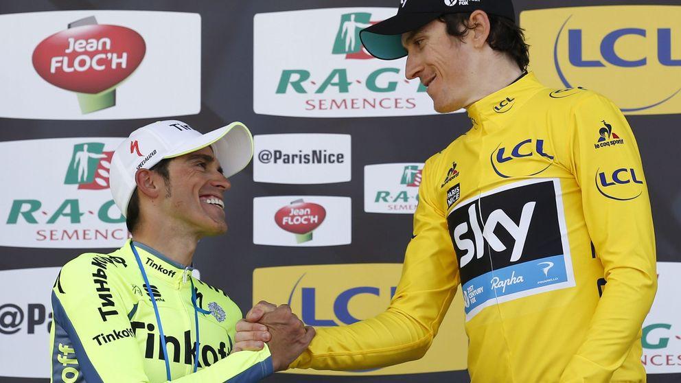 El acoso de Contador a Thomas no le es suficiente para ganar la París-Niza