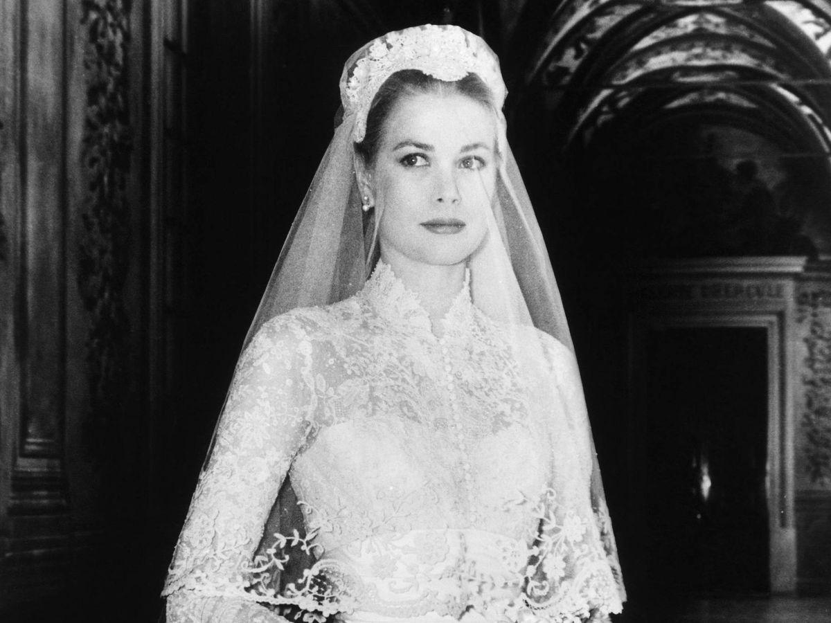 Foto: Inspírate en Grace Kelly el día de su boda. (Cordon Press)