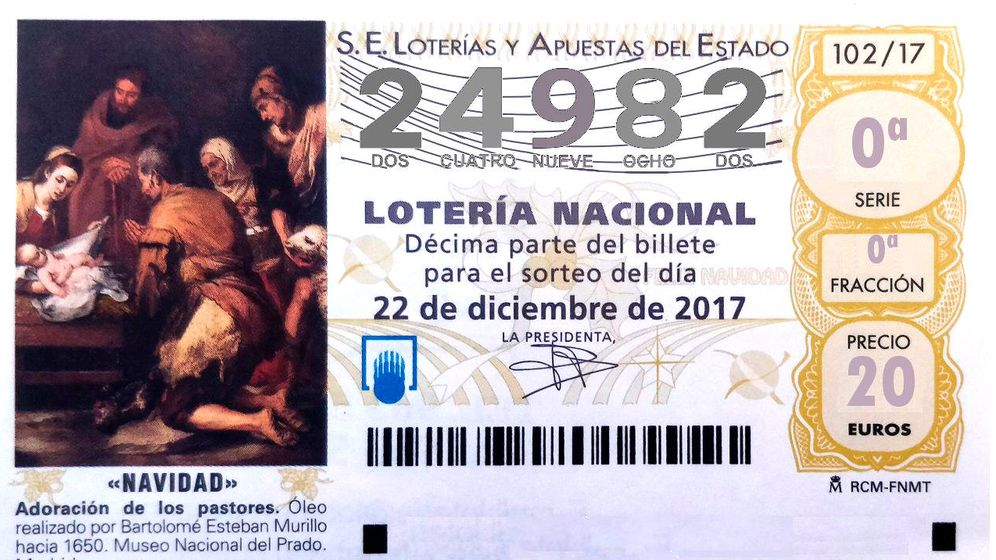 Foto: El penúltimo quinto premio de la Lotería de Navidad ha caído en el 24.982