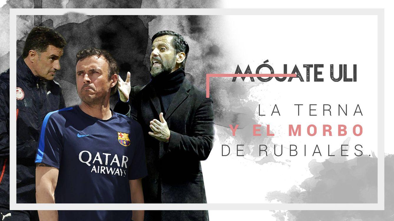 La terna de Rubiales: Luis Enrique (el lobo), Míchel (la promesa) y Quique (el inquieto)