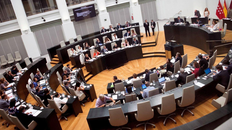 Vista general del pleno celebrado en el Ayuntamiento de Madrid. (EFE)