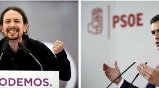 Misma ideología, diferentes partidos: PSOE vs. Podemos