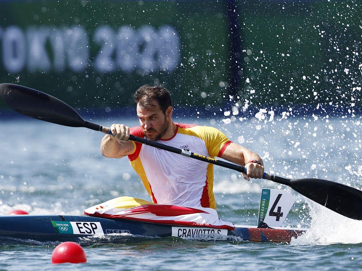 Foto: Saúl Craviotto, en plena competición. (Reuters)