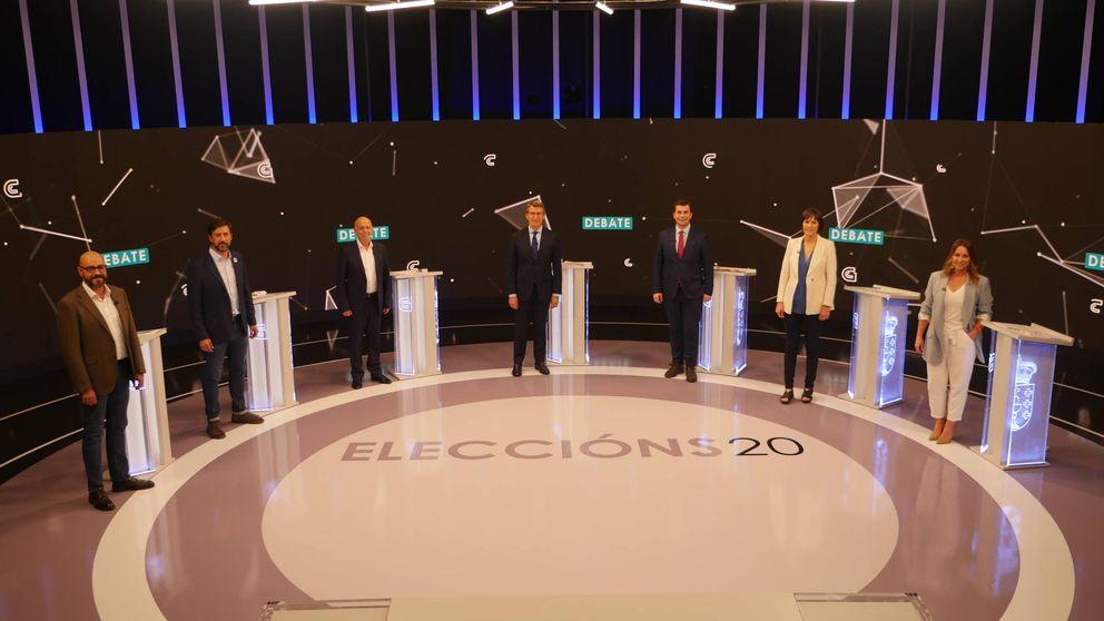 Feijóo salva el 'todos contra uno' en un debate con total sintonía entre PSdG, BNG y GeC