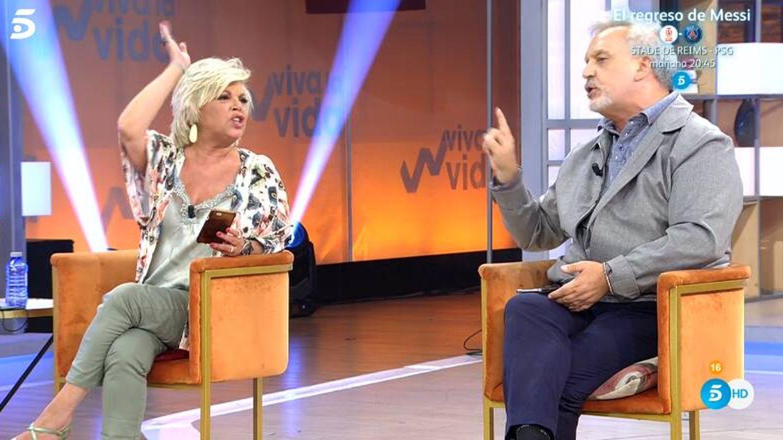 Terelu Campos y Enrique del Pozo, en 'Viva la vida'. (Mediaset)
