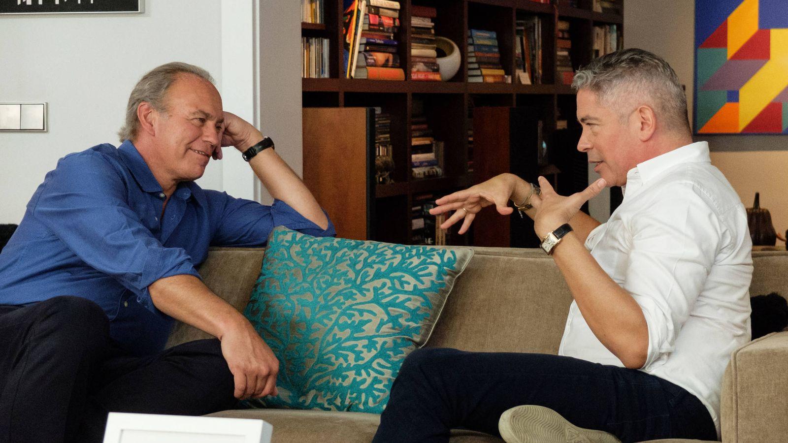 Foto: Bertín Osborne en casa de Boris Izaguirre en 'Mi casa es la tuya'.