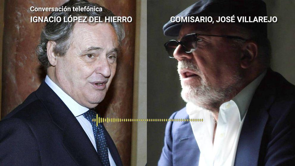 López del Hierro gestiona el transporte a Villarejo: A las seis en Torre Europa, luego te devuelve el coche allí otra vez