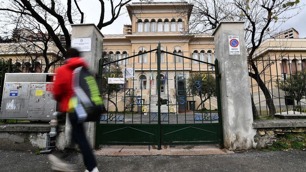 Foto: Colegio cerrado en Génova (Italia). (Foto: EFE/EPA/Luca Zennaro)