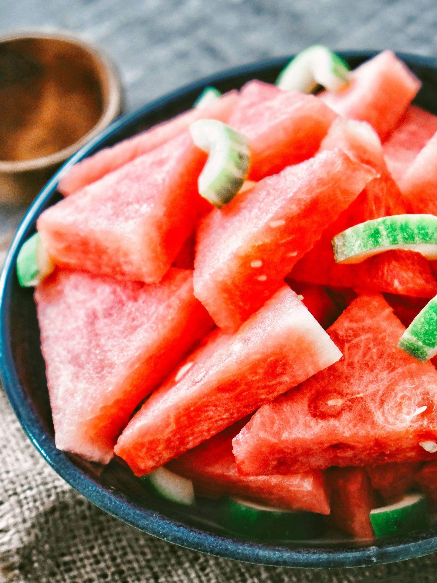 La dieta de la sandía aumenta la ingesta de esta fruta. (Nico Wijaya para Unsplash)