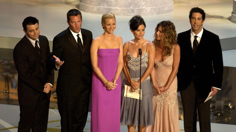 Los protagonistas de 'Friends', en 2002. (Getty)