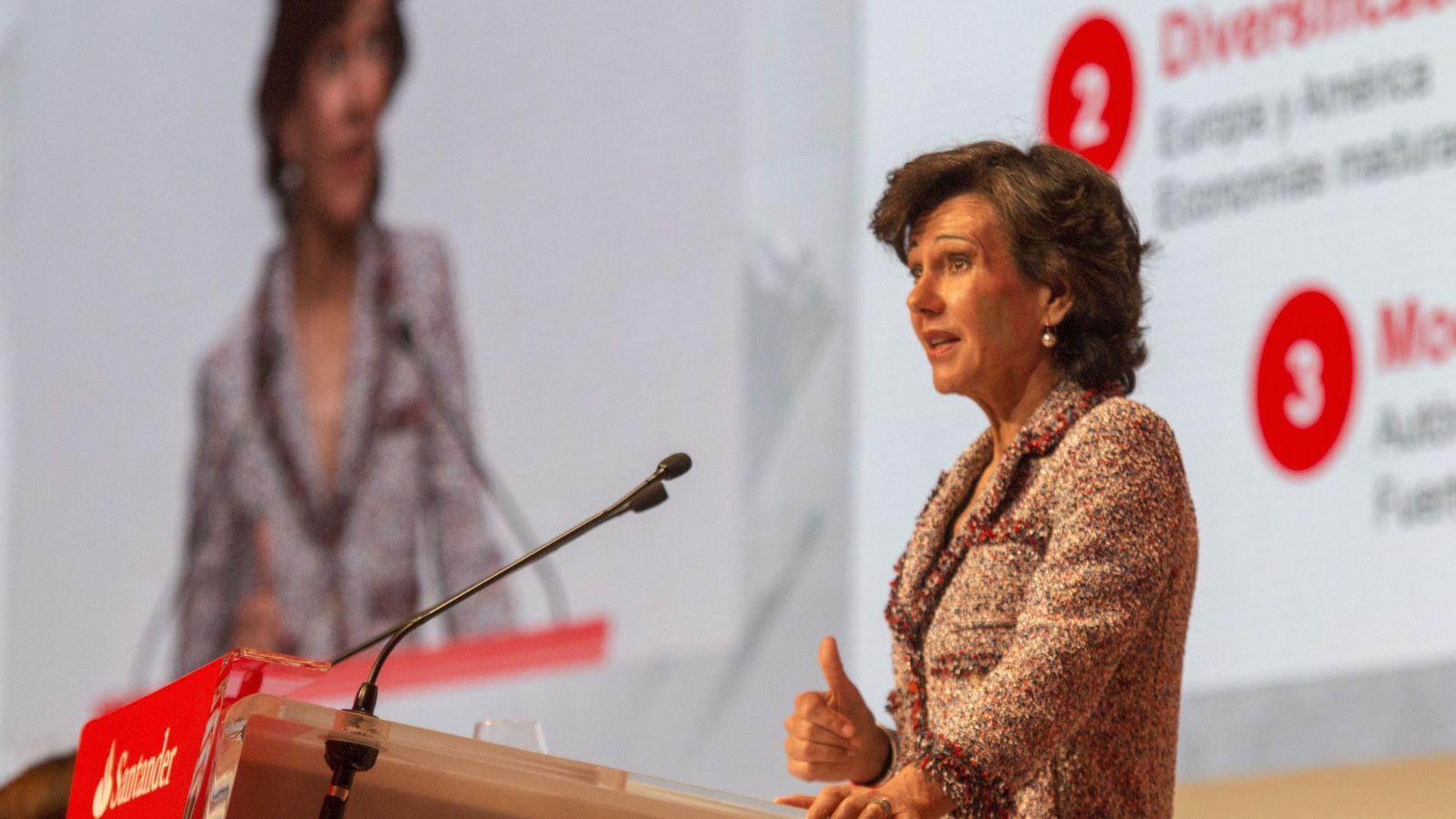 Foto: La presidenta del Banco de Santander, Ana Botín. (EFE)