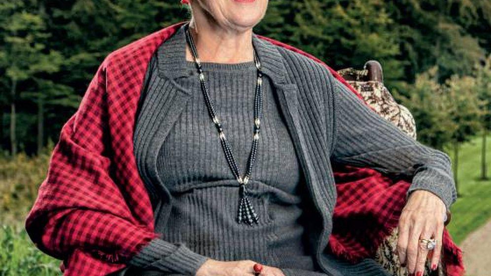 Foto: Retrato oficial de la reina Margarita, con motivo de su 80 cumpleaños. (Casa Real de Dinamarca)