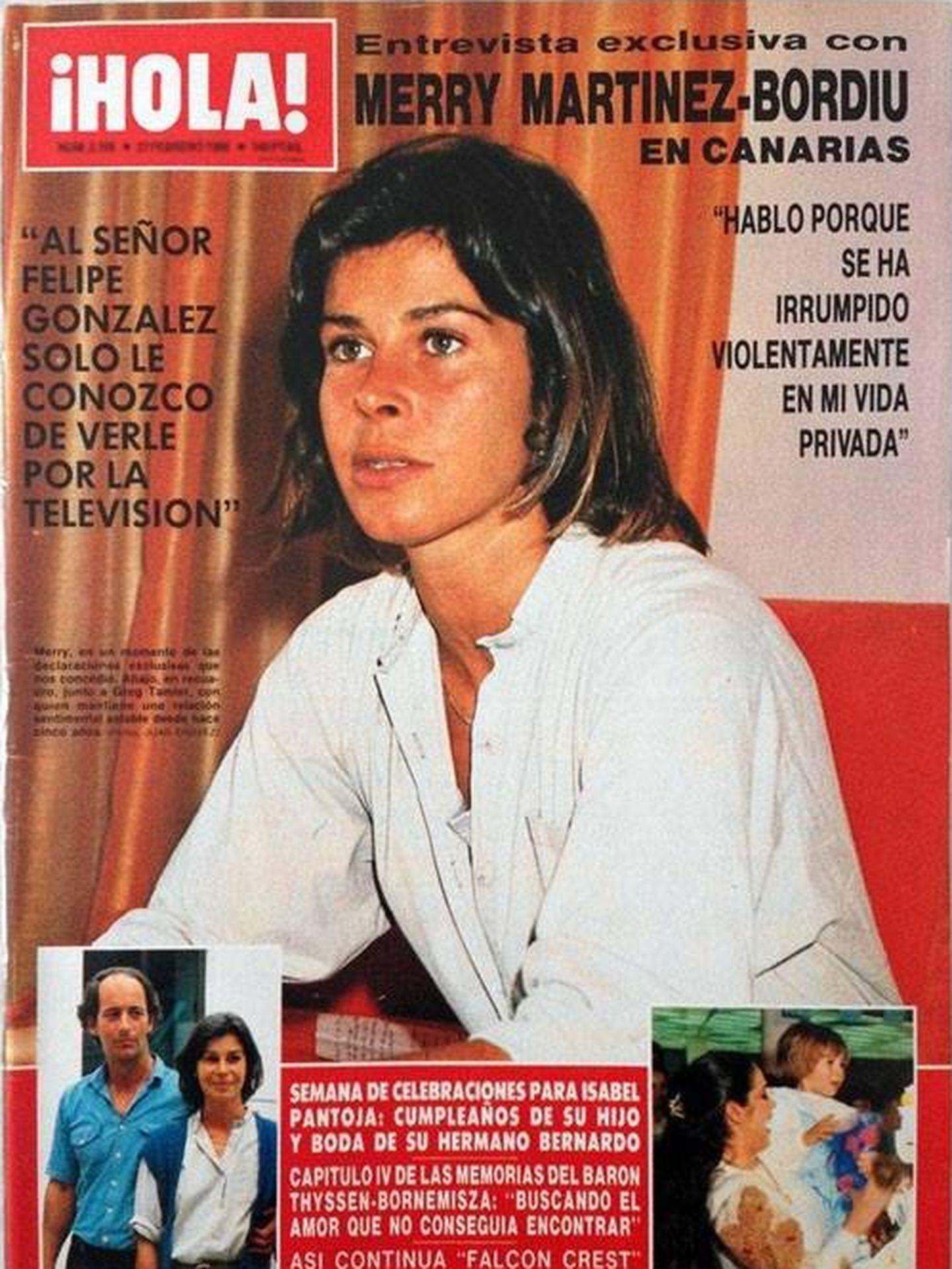Merry Martínez-Bordiú, en una de las portadas de '¡Hola!' que protagonizó.
