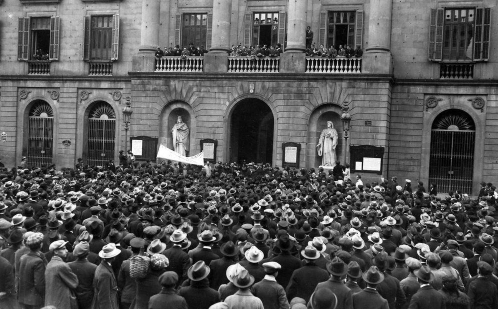 Foto: Huelga de la Canadiense en Barcelona en 1919