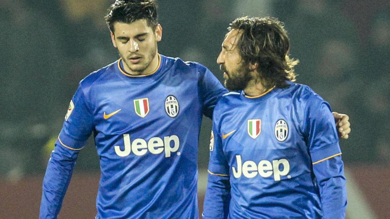 Morata y Pirlo fueron compañeros en la Juventus de Turín. (EFE)