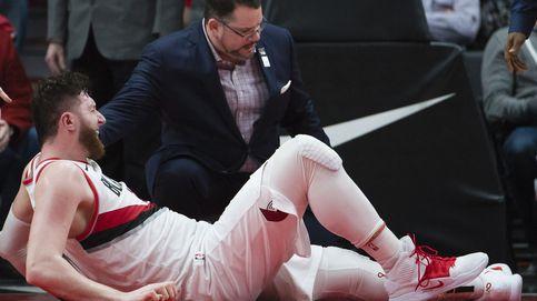 La brutal lesión que conmociona a la NBA: Nurkic se fractura la pierna en un rebote