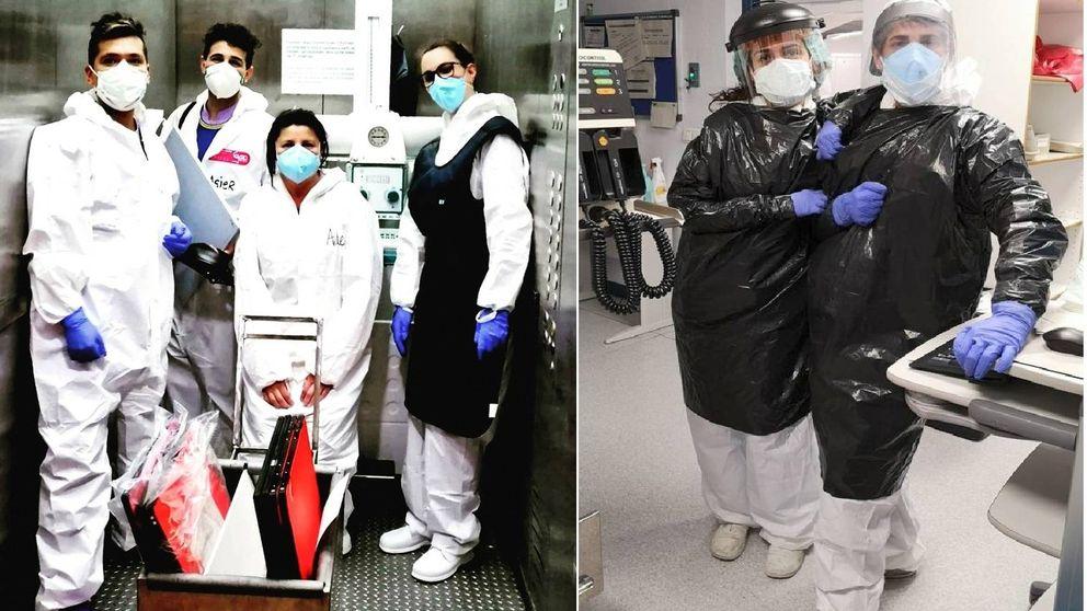 De hacer radiografías a detectar el Covid-19 con delantales de plomo y bolsas de basura