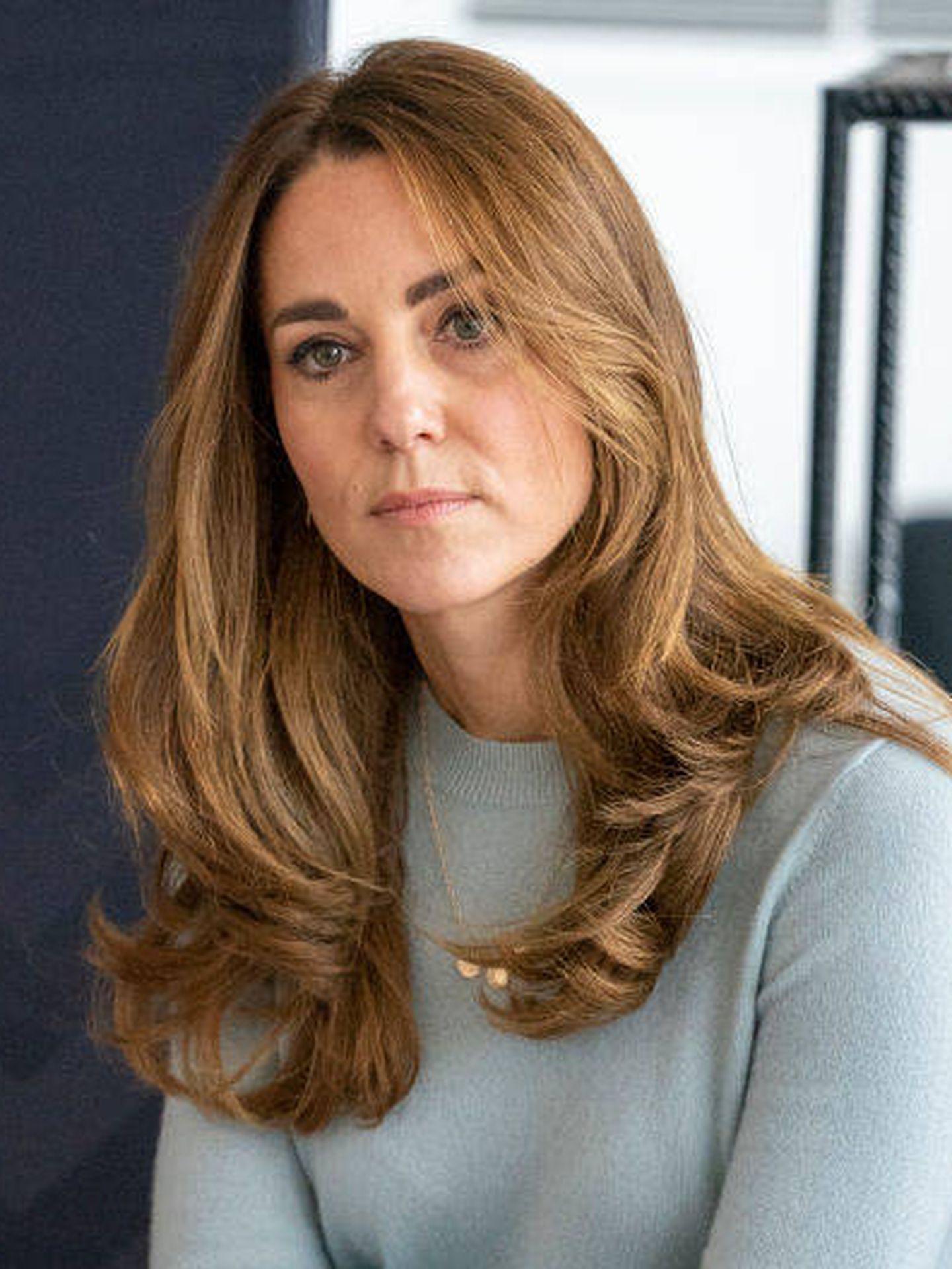 Kate Middleton, prácticamente rubia en su último acto. (Getty)