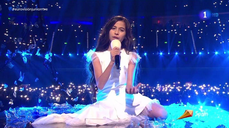Melani García, en 'Eurovisión Junior 2019'. (RTVE).