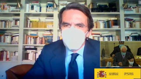 Aznar se desmarca de Rajoy en el juicio de la 'caja B': Ni sé lo que hicieron ni me interesa
