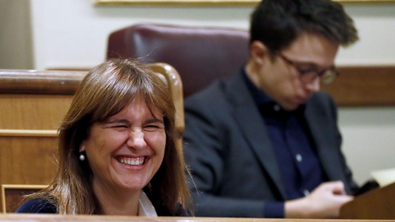 La diputada de JxCAT, Laura Borras, y el de Más País, Íñigo Errejón. (EFE)